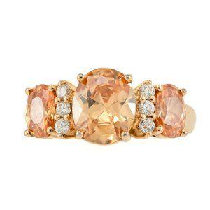 Ross Simons Peach Cubic Zirconia Bridal Ring
